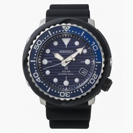 SEIKO精工 PROSPEX系列 DIVER SCUBA 太陽能潛水腕錶 / SNE518P1 / V157-0CX0A