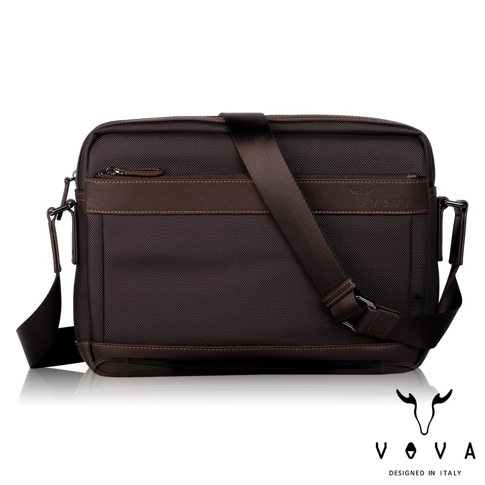 【VOVA沃汎】台灣總代理 羅迪 橫式大斜背包-咖啡色/VA124S03BR