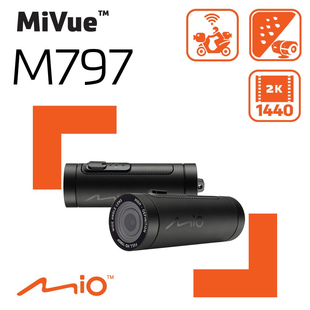 Mio MiVue™ M797 勁系列 2K WIFI 機車行車記錄器《送16G+拭鏡布》