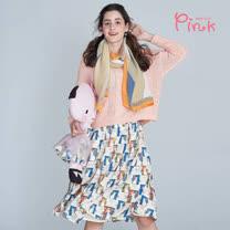 Pink*滿版慵懶貓咪半身裙 (2色) U2603AD