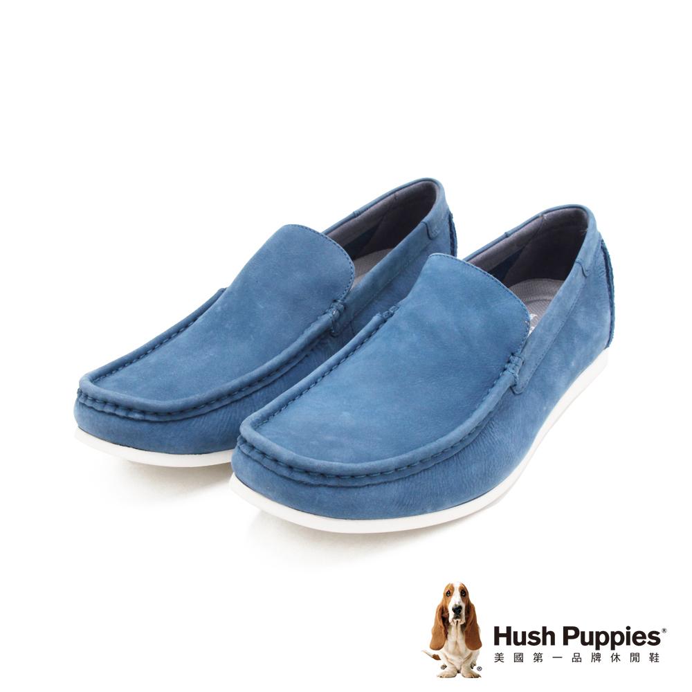 Hush Puppies 紳士皮革樂福男鞋-藍(另有棕)