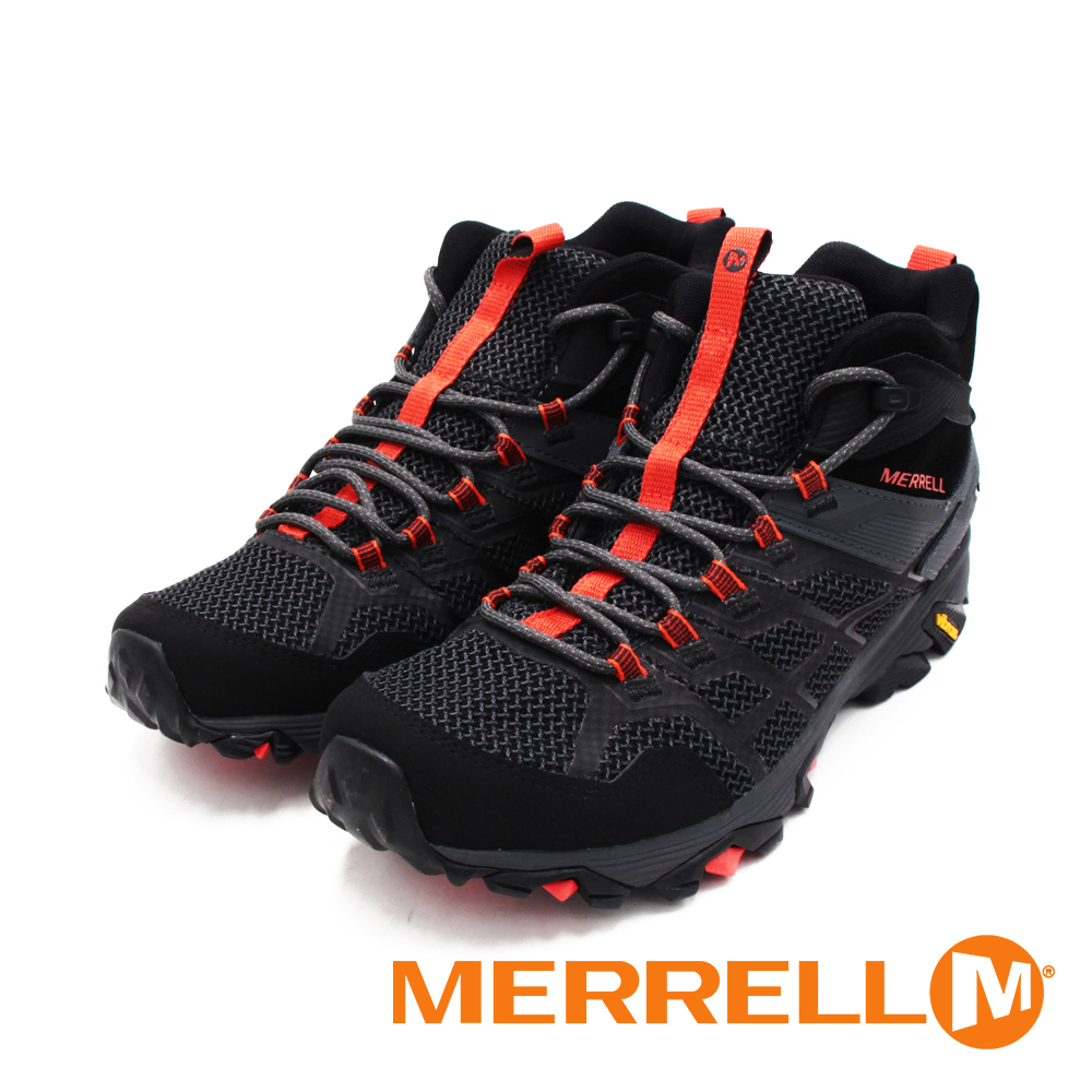 MERRELL(男)MOAB FST 2 MID GORE-TEX中筒防水健行鞋 男鞋 -黑橘