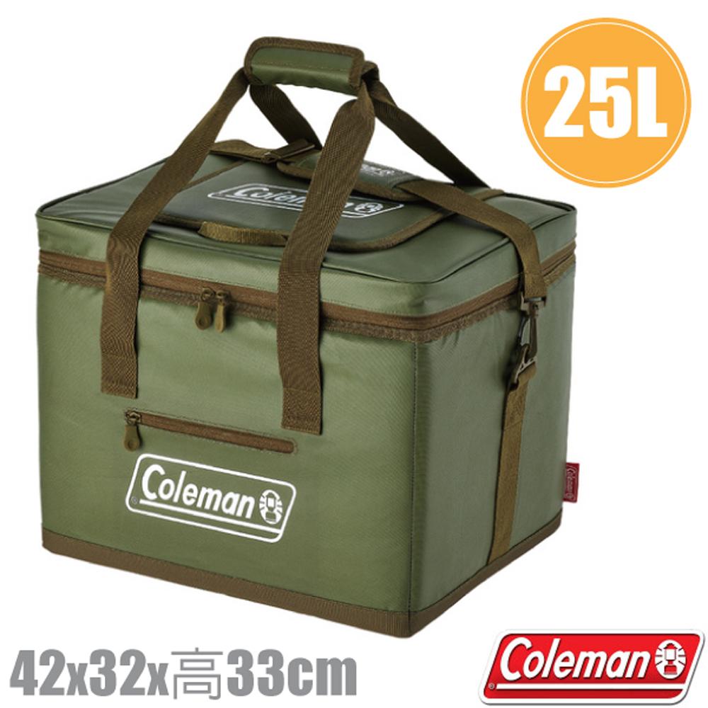 【美國 Coleman】25L 綠橄欖終極保冷袋.保冰袋.保溫袋.行動冰桶 /露營野餐/ CM-37166