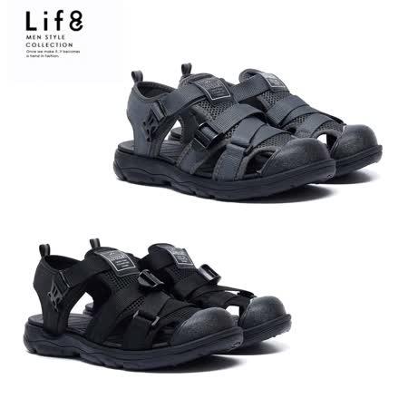 LIFE8男女款 透氣漂浮水路涼鞋