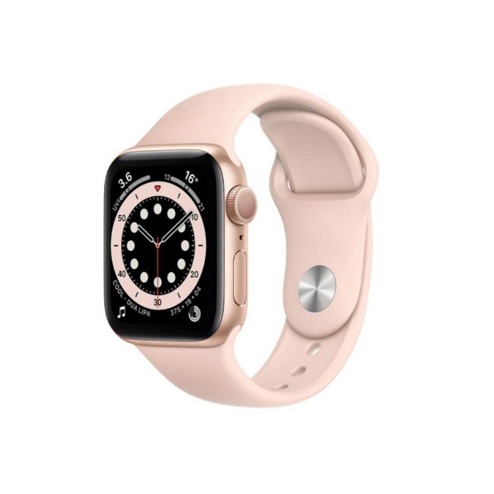 【外盒輕微凹損】Apple Watch 6 GPS Sport 40mm 金鋁/粉運動 手錶