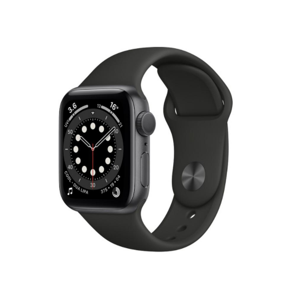 【外盒輕微凹損】Apple Watch 6 GPS Sport 44mm 灰鋁/黑運動 手錶