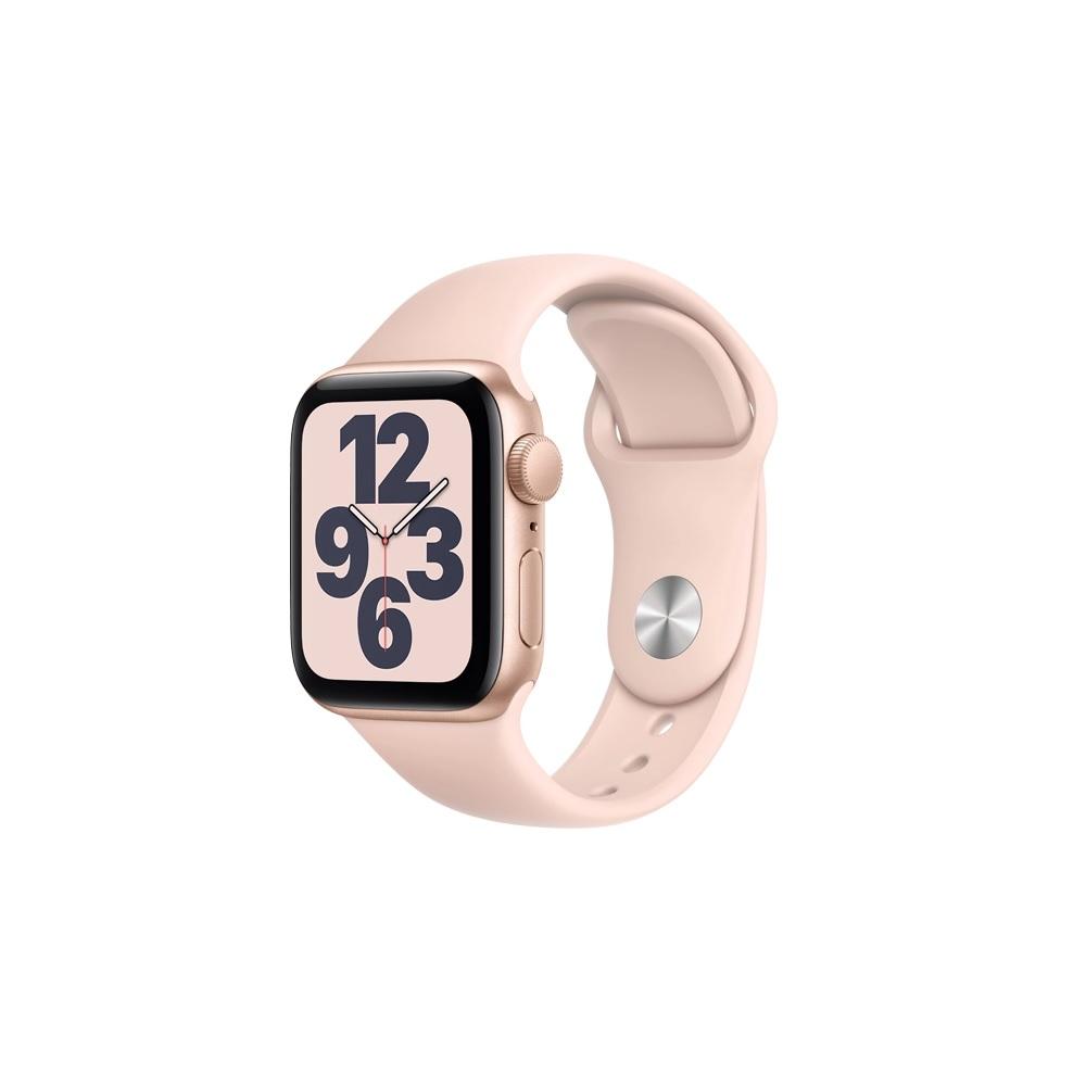 【外盒輕微凹損】Apple Watch SE GPS Sport 40mm 金鋁/粉運動 手錶