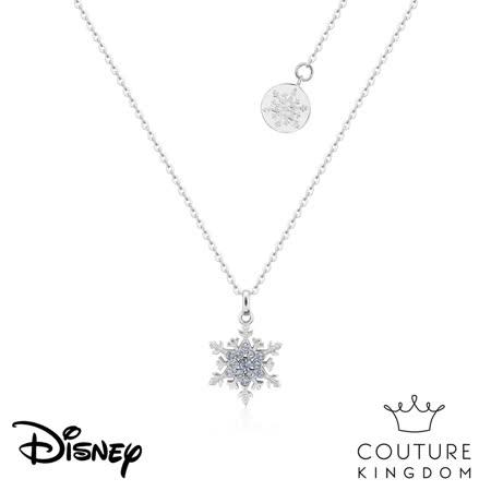 Disney 冰雪奇緣2  雪花鍍水晶項鍊