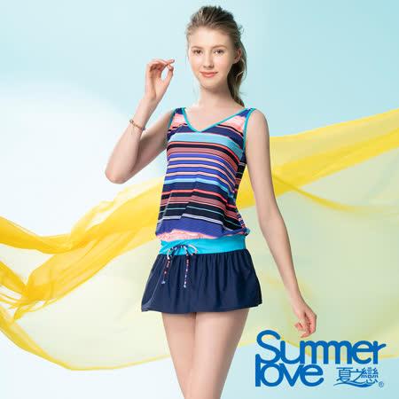 夏之戀SUMMERLOVE大女連身裙二件式
