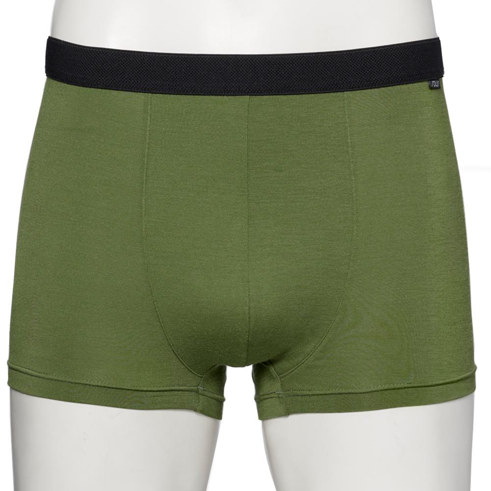 【SOLIS】墨烯哥系列M-XXL素面貼身四角男褲(泥綠色)
