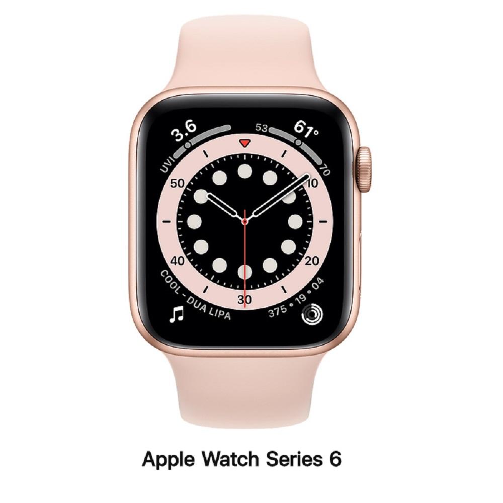Apple Watch Series 6 44mm LTE版 金色鋁錶殼配粉沙色運動錶帶MG2D3TA/A