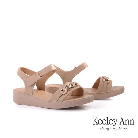 Keeley Ann 鍊條寬帶厚底涼鞋