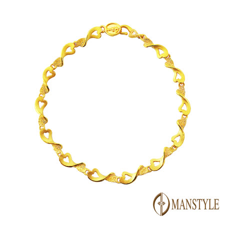 MANSTYLE  初戀黃金手鍊(約2.25錢)