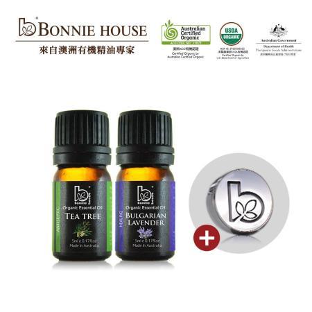 Bonnie House 有機 茶樹+薰衣草精油(5ml)