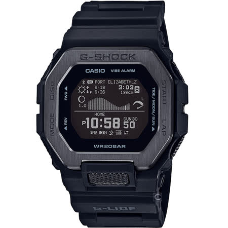 CASIO G-SHOCK 藍牙 雙重材質錶圈 衝浪系列運動錶