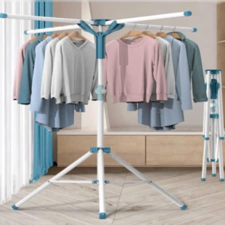 曬衣神器 多功能不鏽鋼四桿曬衣架