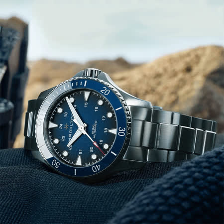 Hamilton 漢米爾頓 卡其海軍機械錶-藍