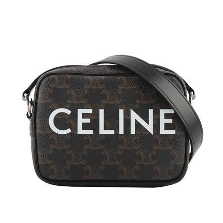 CELINE Logo帆布相機包