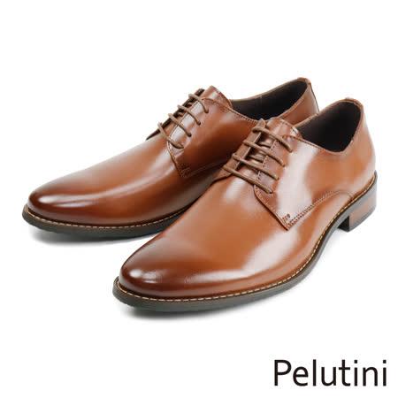 Pelutini 素面綁帶經典德比鞋