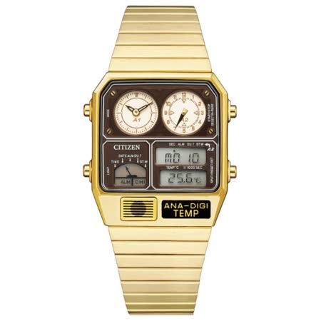CITIZEN星辰 Chronograph系列 復古雙顯電子腕錶 / JG2103-72X / 32.5 x 40.6mm