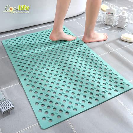 居家安全環保 浴室強力吸附防滑墊2入