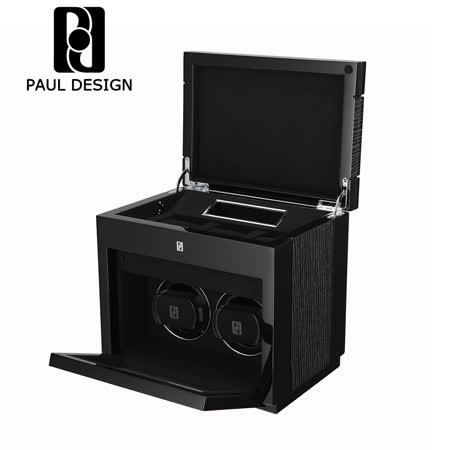 英國保羅 PAUL DESIGN 手錶自動上鍊盒 2+3支裝 LED燈 31種轉速 鋼琴烤漆 錶盒 收藏盒