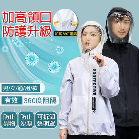 韓國K.W.  防疫防護外套可拆式面罩