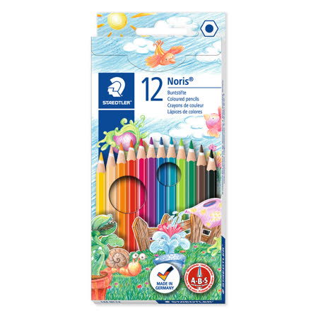 STAEDTLER 油性色鉛筆12色