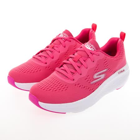 SKECHERS 輕量厚底女慢跑鞋