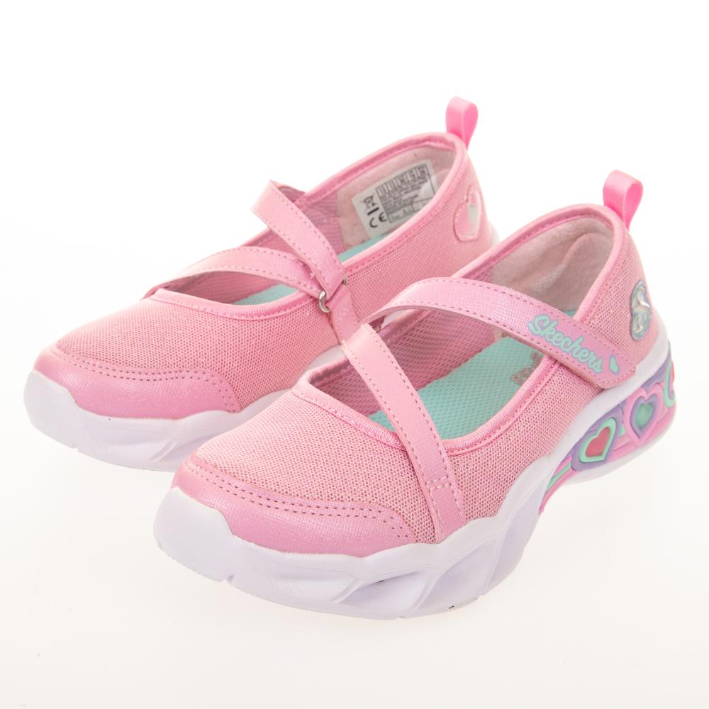 SKECHERS 女童系列 SWEETHEART LIGHTS 燈鞋 - 302303LPNK