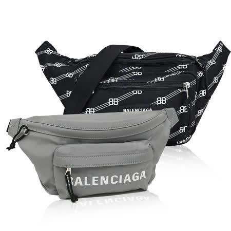 BALENCIAGA  印花/LOGO尼龍腰包