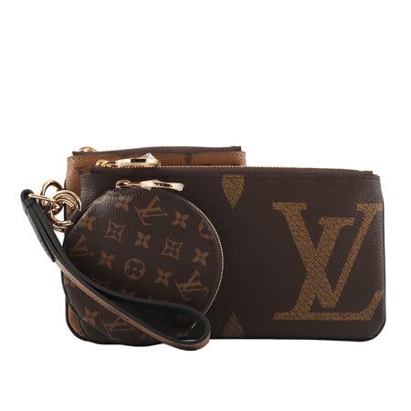【Louis Vuitton】 Monogram 雙色三合一可拆手拿包