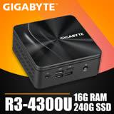 技嘉系列【mini虎鯊】R3-4300U四核 迷你電腦(16G/240G SSD)《BRR3H-4300》