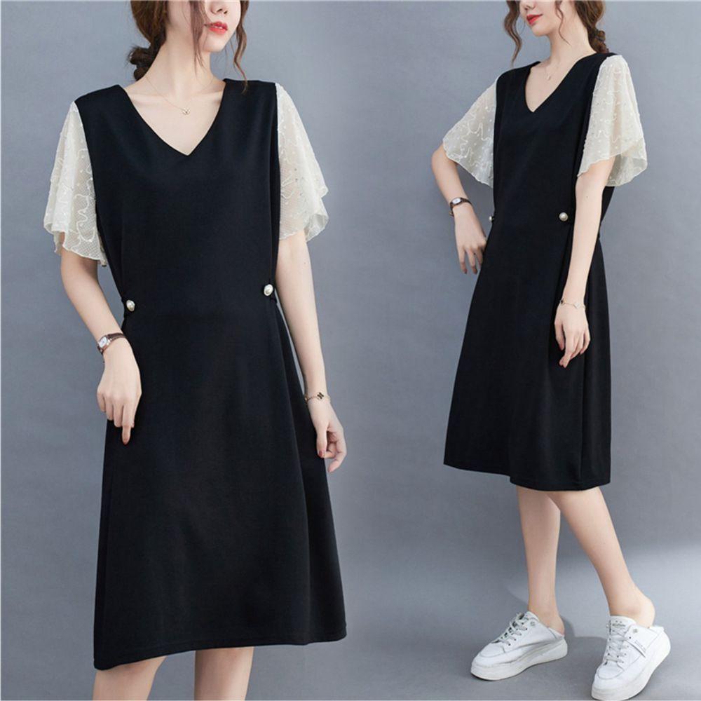【Maya 名媛】XL~2XL雪紡都會風飄逸連身洋裝