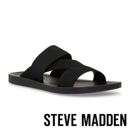 STEVE MADDEN 交叉彈性帶涼拖鞋