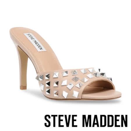 STEVE MADDEN 鉚釘細跟高跟涼拖鞋