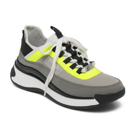 STEVE MADDEN 拼接厚底增高運動休閒鞋