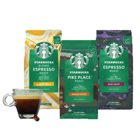 星巴克烘焙咖啡豆系列200Gx3