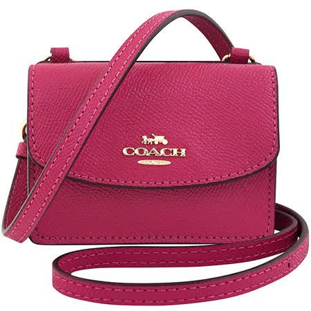 COACH 小廢包/迷你斜背包-紫紅色