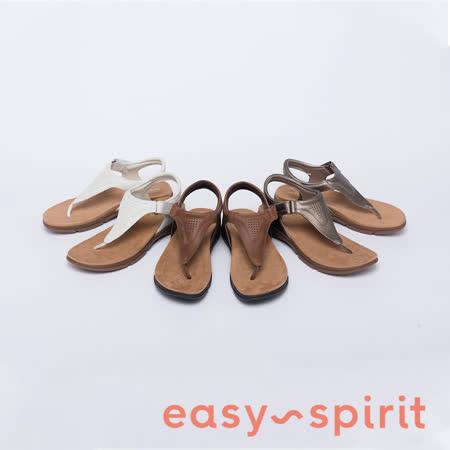 Easy Spirit 透氣牛皮夾腳拖鞋
