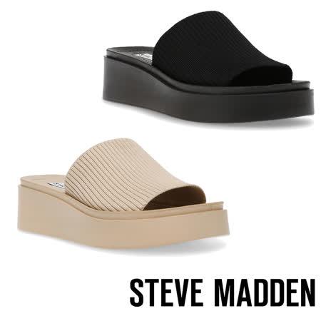 STEVE MADDEN 針織厚底平底拖鞋