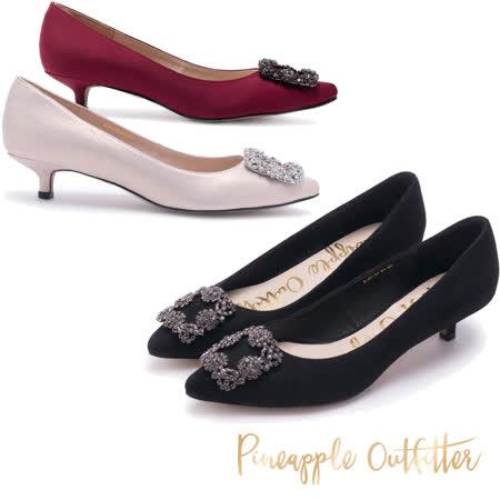 Pineapple Outfitter 璀璨名媛方鑽釦跟鞋