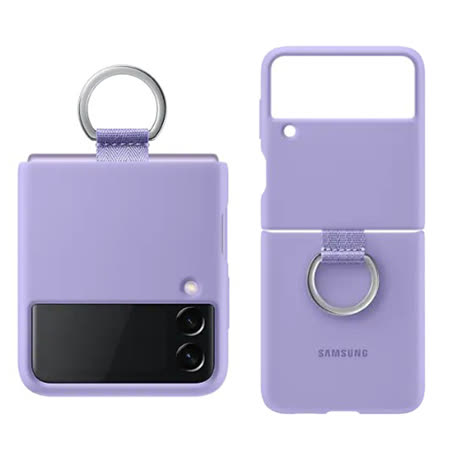 三星 Galaxy Z Flip3 原廠矽膠薄型背蓋附指環扣