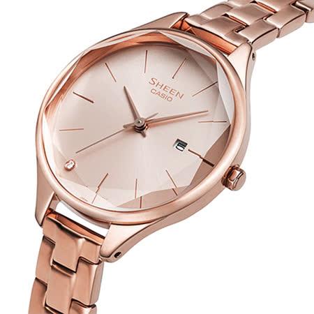 CASIO卡西歐 SHEEN   優雅曲線日期手錶