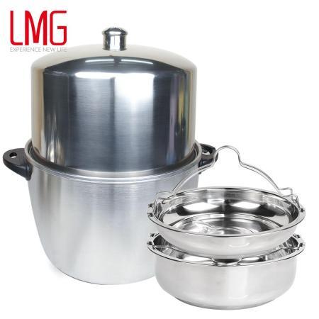 台灣製 304不鏽鋼 加高電鍋蓋蒸盤四件組(贈防燙夾)(美安獨家)