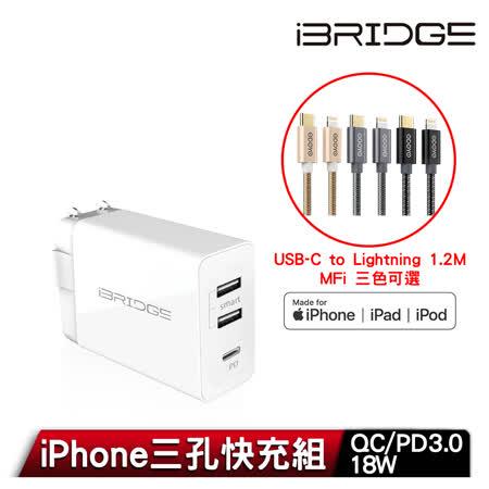iBRIDGE PD急速 雙USB充電器+線組