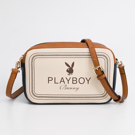 PLAYBOY 雙層相機包 Viva系列 - 米白色