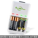 【Skintek】台灣綠能之光 鹼性/鎳氫/鎳鎘電池自動斷電充電器