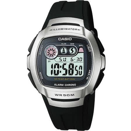 CASIO 兩地時間商務錶(銀黑)