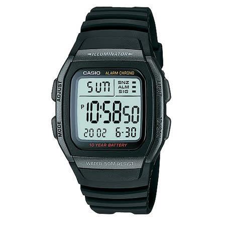 CASIO 城市個性休閒電子錶(全黑) -friDay購物